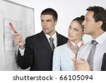 corporate teamwork - stock photo