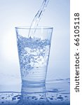 water pouring into a glass | Shutterstock . vector #66105118