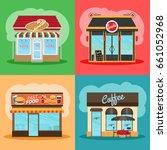 restaurant or fast food store...   Shutterstock . vector #661052968