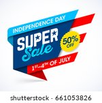 usa independence day sale... | Shutterstock .eps vector #661053826