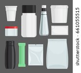 cosmetics containers set....   Shutterstock . vector #661055515
