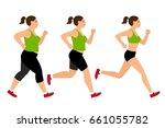 jogging weight loss woman....   Shutterstock . vector #661055782