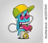 ice cream monster illustration  ... | Shutterstock .eps vector #661057045