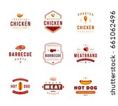 set of barbecue labels and... | Shutterstock .eps vector #661062496