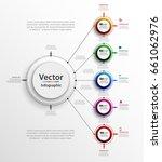 abstract vector infographics... | Shutterstock .eps vector #661062976