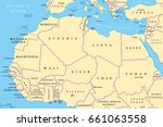 north africa countries... | Shutterstock .eps vector #661063558