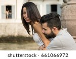 hugs and tenderness among lovers | Shutterstock . vector #661066972
