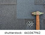 close up view on asphalt... | Shutterstock . vector #661067962