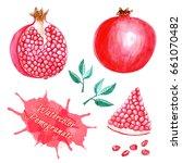 hand drawn watercolor... | Shutterstock . vector #661070482