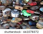 love proof padlock | Shutterstock . vector #661078372