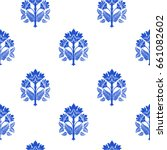 seamless pattern with fantasy... | Shutterstock .eps vector #661082602