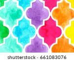 Quatrefoil Pattern In Watercolor