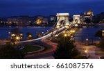 chain bridge at night       | Shutterstock . vector #661087576