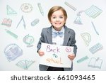 happy school boy ready to go to ... | Shutterstock . vector #661093465