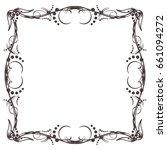 calligraphic frame vintage style | Shutterstock .eps vector #661094272