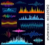vector digital music equalizer... | Shutterstock .eps vector #661105342