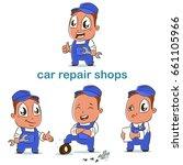 car repair shop vector set of... | Shutterstock .eps vector #661105966