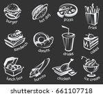 illustration of fast food set... | Shutterstock .eps vector #661107718