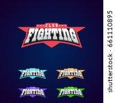 fight club emblem. mixed... | Shutterstock .eps vector #661110895