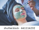 beautiful woman having mask  ... | Shutterstock . vector #661116232