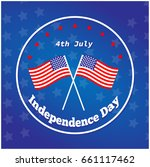 american independence day 4 th... | Shutterstock .eps vector #661117462