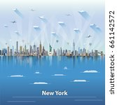 vector illustration of new york | Shutterstock .eps vector #661142572