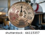 Old Engine Order Telegraph On ...