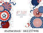 4th of july  usa independence... | Shutterstock .eps vector #661157446