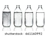 set with different glasses of... | Shutterstock . vector #661160992