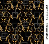 endless abstract pattern.... | Shutterstock .eps vector #661182355