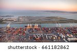 an aerial photo of the port of... | Shutterstock . vector #661182862