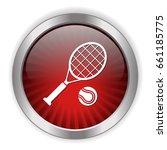 tennis icon   Shutterstock .eps vector #661185775