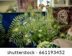 green leaves interior... | Shutterstock . vector #661193452