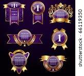 set of golden labels vector | Shutterstock .eps vector #66119350