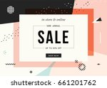 sale banner template design.... | Shutterstock .eps vector #661201762