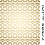 geometric pattern. golden lines ... | Shutterstock .eps vector #661211986
