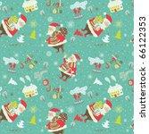 winter christmas seamless... | Shutterstock .eps vector #66122353