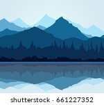 blue mountain so cool vector | Shutterstock .eps vector #661227352