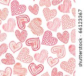 perfect valentine seamless pattern - stock vector