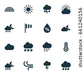 weather icon set. collection of ... | Shutterstock .eps vector #661240156