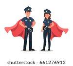 police character vector design | Shutterstock .eps vector #661276912