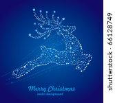 Vector Christmas Deer Starry...