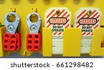 lock out   tag out   lockout... | Shutterstock . vector #661298482