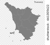 high quality map of tuscany is... | Shutterstock .eps vector #661305622