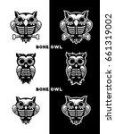 bone owl vectors | Shutterstock .eps vector #661319002
