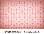 vintage heart pattern... | Shutterstock . vector #661323316