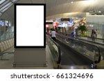 blank mock up of vertical... | Shutterstock . vector #661324696