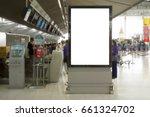 blank mock up of vertical... | Shutterstock . vector #661324702