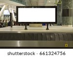 blank mock up of horizontal... | Shutterstock . vector #661324756