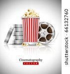cinematograph in cinema films... | Shutterstock .eps vector #66132760